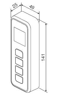 Габариты контроллера беспроводного EC111