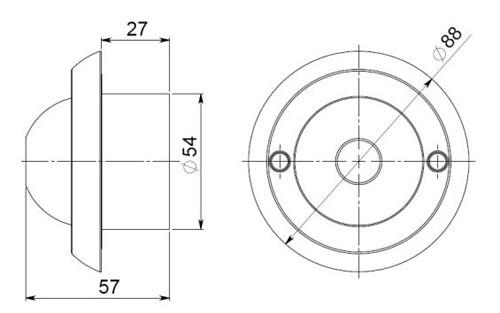 Монохромная антивандальная камера наблюдения МВК-0931ИН БайтЭрг (Росси