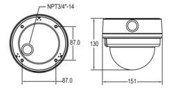 Купольная IP-камера GCI-H0522V