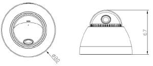 Габаритные размеры HLV-1KEM