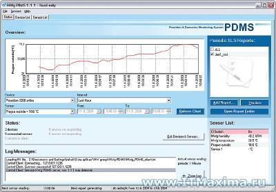 ПО для мониторинга и составления отчетов в формате MS Excel HWg-PDMS 8