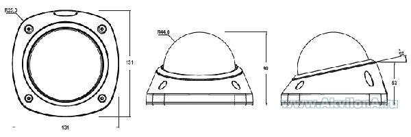 Габаритные размеры CD-M21P-L (мм)